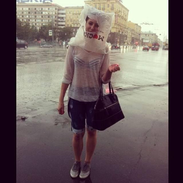 Наводнение в Москве из-за грозы