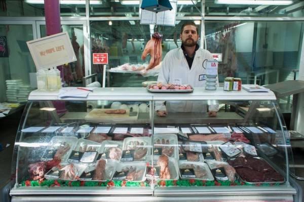 Павильон человеческого мяса в Лондоне