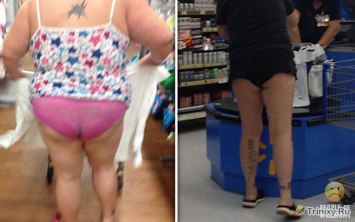 Смешные люди из супермаркетов.