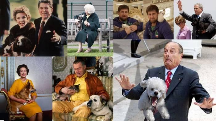 Известные политики и их четвероногие любимцы (24 фото)