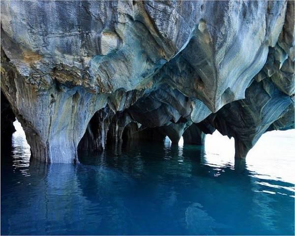 Мраморные пещеры озера Буэнос-Айрес (19 фото)