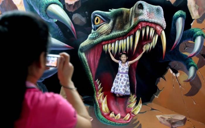 Художественная роспись 3D в Китае (9 фото)