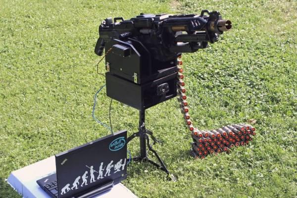 Самодельный автоматический сторожевой пулемет (3 фото+видео)
