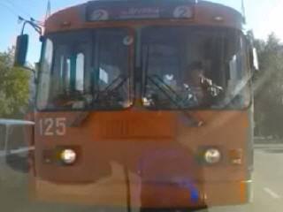 Наглый водитель троллейбуса