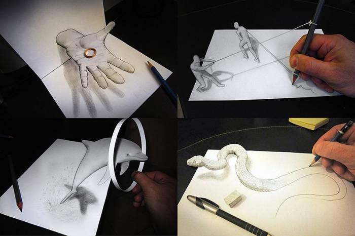 Умопомрачительные 3D рисунки (12 фото)