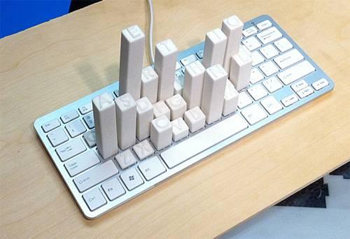 Клавиатура с большими объемными кнопками (5 фото)