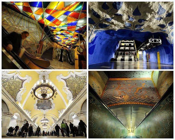 Красивые станции метро в Европе (23 фото)