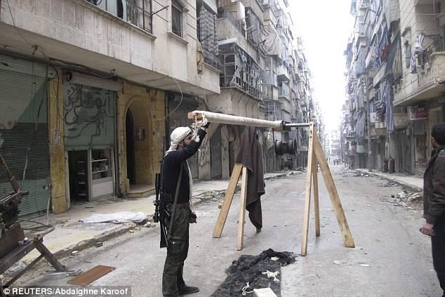 Самодельное оружие сирийских боевиков (8 фото)