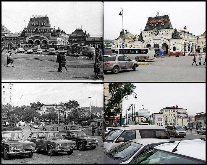 Владивосток в 1977 и в 2013 году (11 фото)