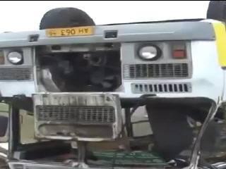 В Курске перевернулся пассажирский ПАЗ