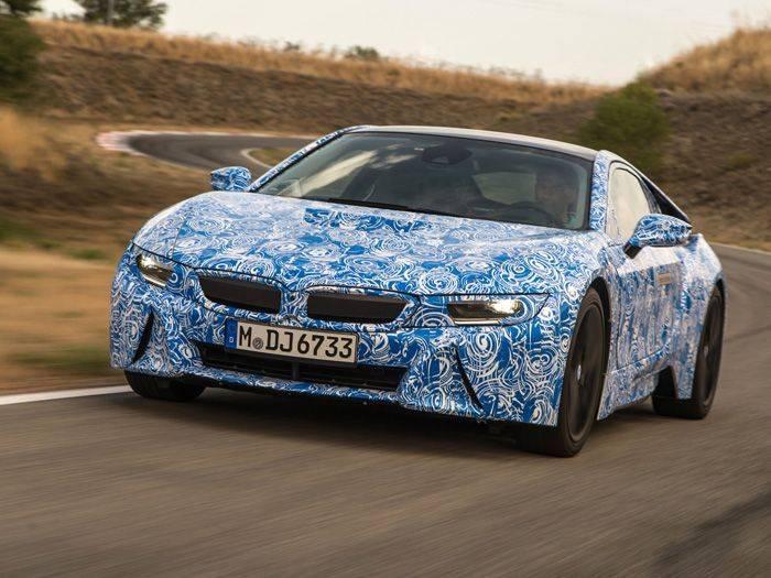 Гибридный спорткар BMW i8 получит 3-цилиндровый мотор (12 фото)
