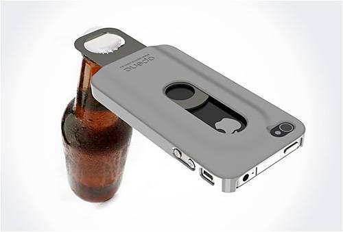 Открывалка бутылок для iPhone (5 фото)