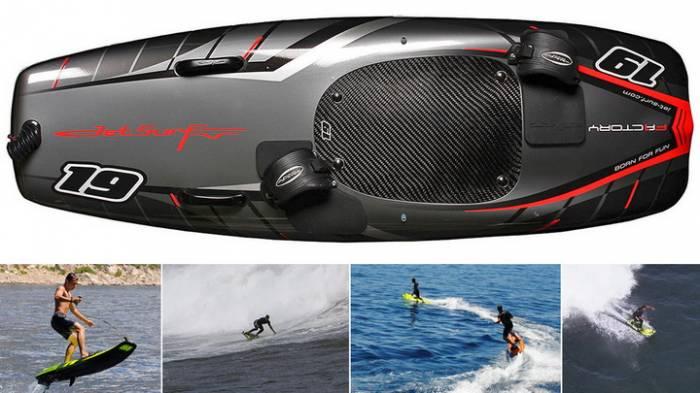 Доска для сёрфинга с внутренним двигателем обеспечит катание даже в полный штиль