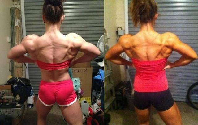 """Девушка """"до и после"""" нескольких лет занятий бодибилдингом (30 фото)"""