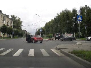 ДТП на перекрестке в Череповце