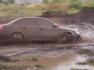 Тест Audi A4 на бездорожье