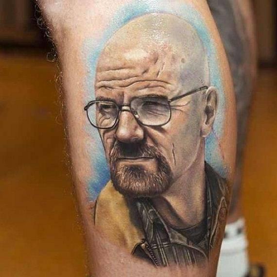 Татуировки с Уолтером Уайтом (21 фото)