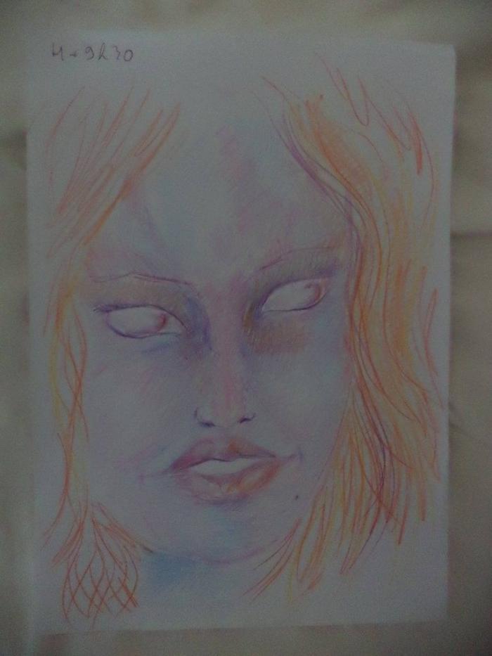 Художник рисует девушку после употребления наркотиков (11 фото)