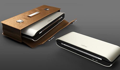 Интересный концепт раскладного ноутбука Fujitsu X2 (6 фото))