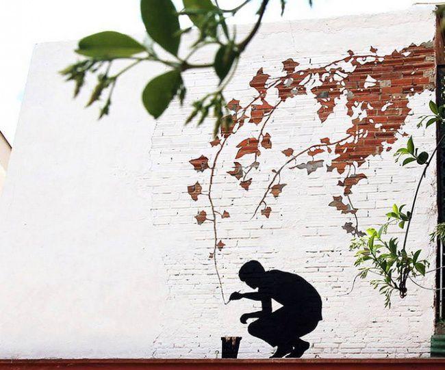 Нестандартный стрит-арт от художника Pejac (16 фото)