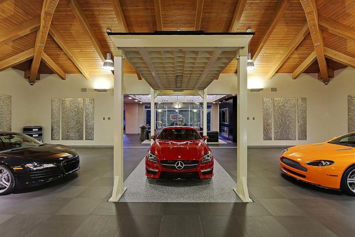 Дом с гаражом посередине (20 фото)