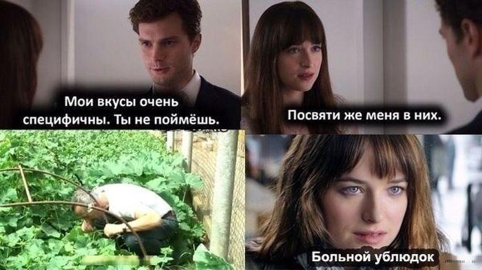 Мемы из сети на фильм «50 оттенков серого» (29 картинок)