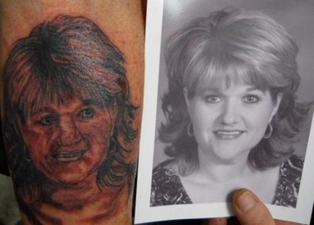 Неудачные татуировки (32 фото)