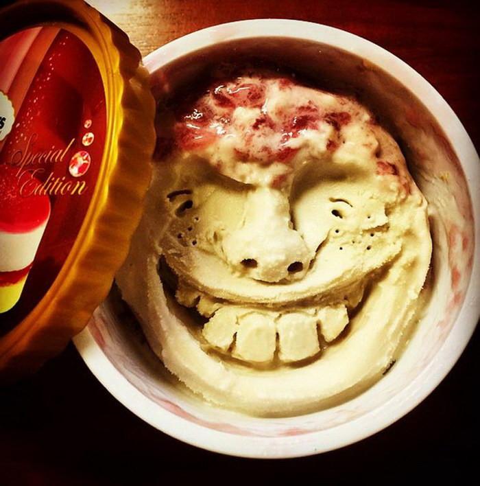 Японский художник создает лица из мороженого (16 фото)