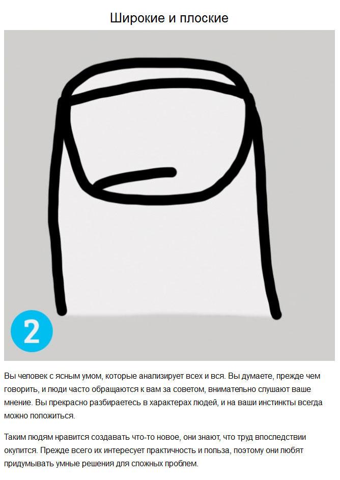 Узнаем характер человека по форме его ногтей (8 картинок)