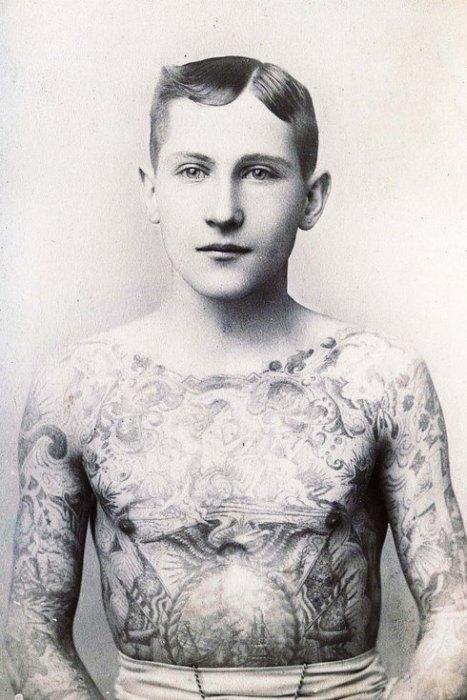 Золотой век татуировки: 1900 – 1970 годы (30 фото)