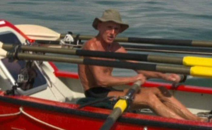 Гребец Джон Биден в одиночку пересек Тихий океан по диагонали (3 фото)