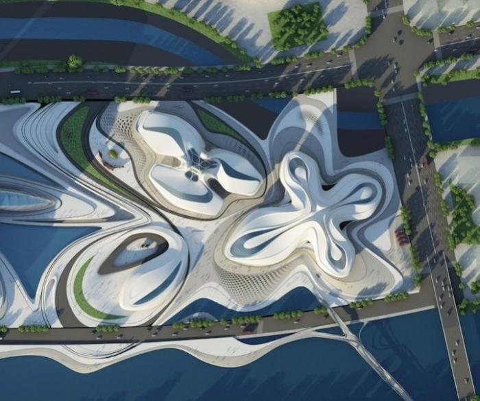 Проект фантастического культурного центра в Китае (7 фото)