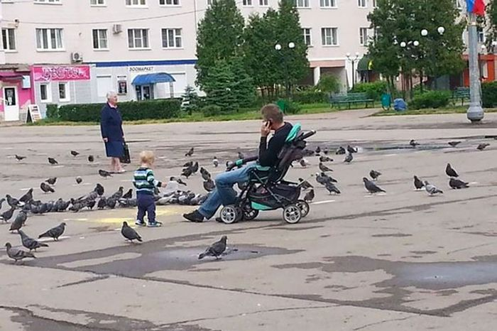Когда отцов оставляют приглядывать за детьми (35 фото)