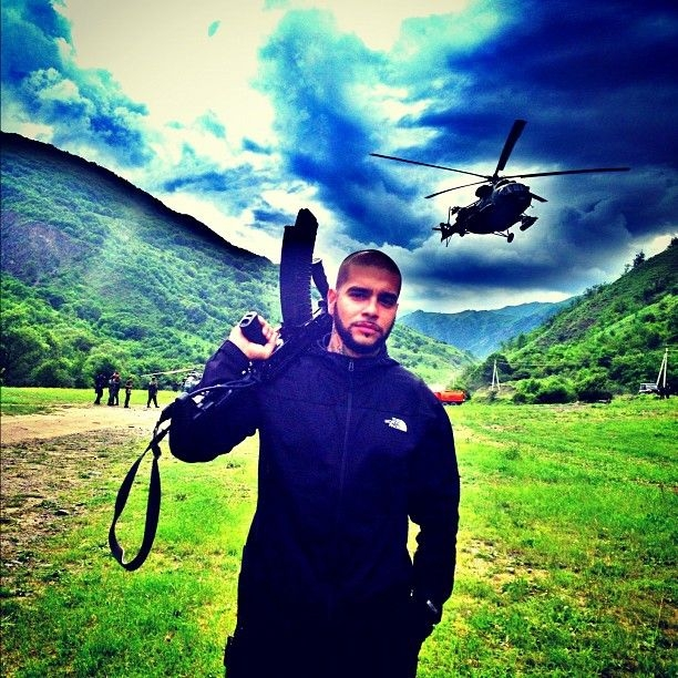 Тимати слетал на завтрак к «брату» в боевом вертолёте (8 фото)