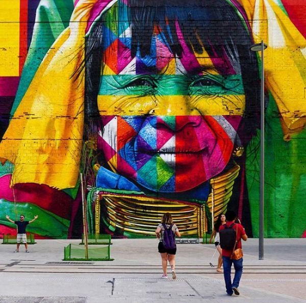 Олимпийское единство в работе уличного художника Эдуардо Кобра (8 фото)