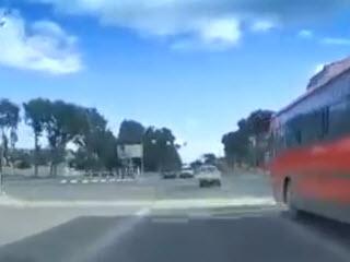 Погоня водителя за велосипедистом