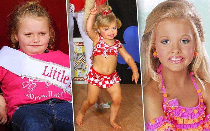 Автозагар, диеты, ботокс, эпиляция: будни маленьких королев красоты (17 фото)