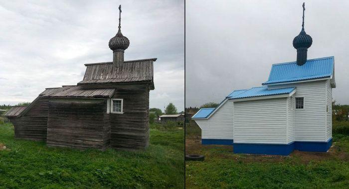В Архангельской области отреставрировали 300-летнюю часовню (2 фото)