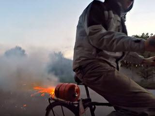 Велосипед с реактивным двигателем