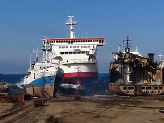 Подборка корабельных аварий
