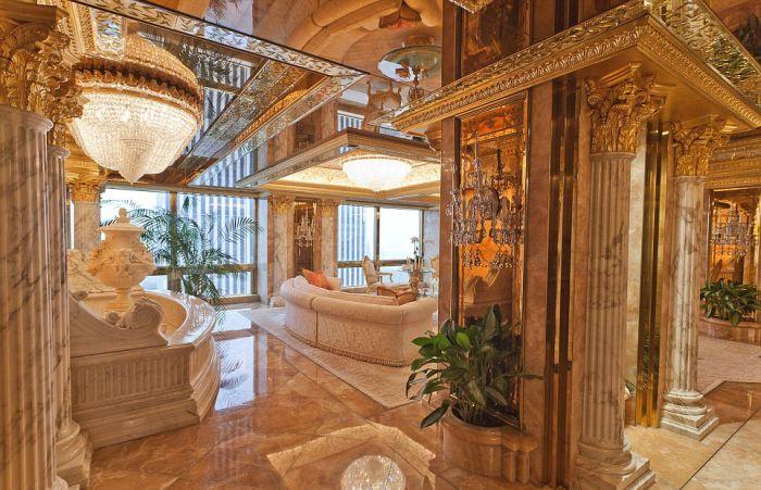 Фотоэкскурсия по роскошному жилищу Дональда Трампа (18 фото)