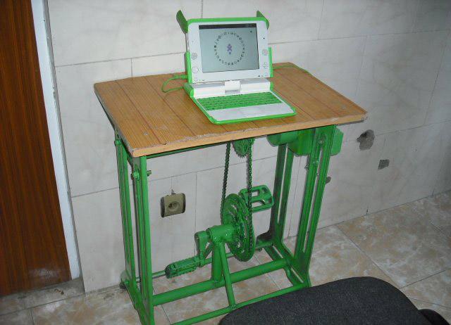 Педальный ноутбук (3 фото)