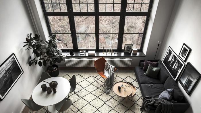 Интерьер двухуровневой квартиры площадью 40 квадратных метров (17 фото)