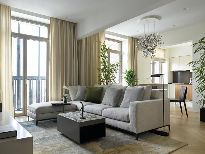 Интерьер московской квартиры 105 квадратных метров (29 фото)