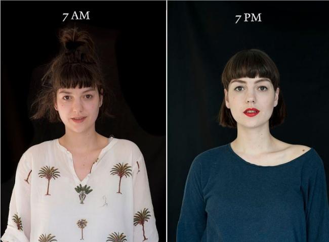 «7 утра — 7 вечера»: как по-разному выглядит человек (10 фото)