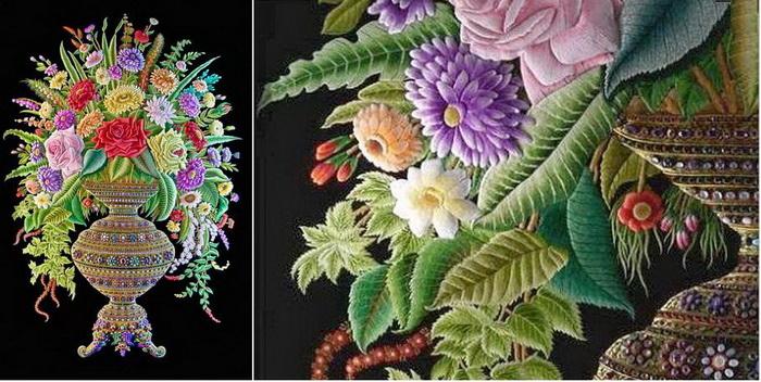 Уникальная вышивка, каждая весит более 200 килограммов (8 фото)
