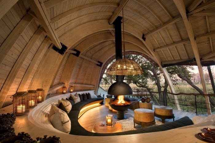 Уникальный отель в заповеднике Ботсваны (28 фото)