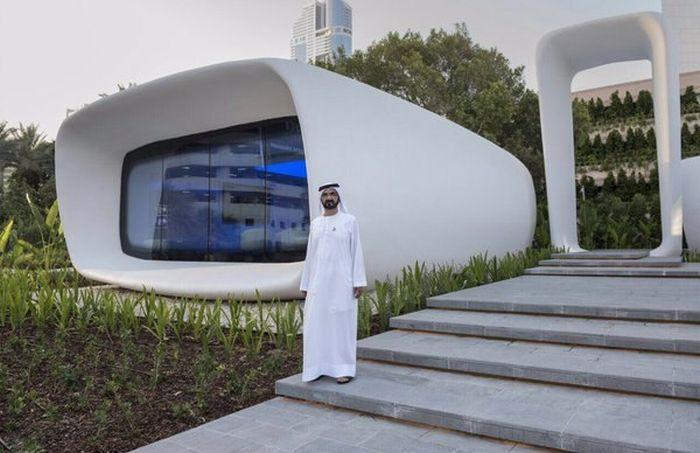 В Дубае начали печатать офисы на 3D-принтере (6 фото)