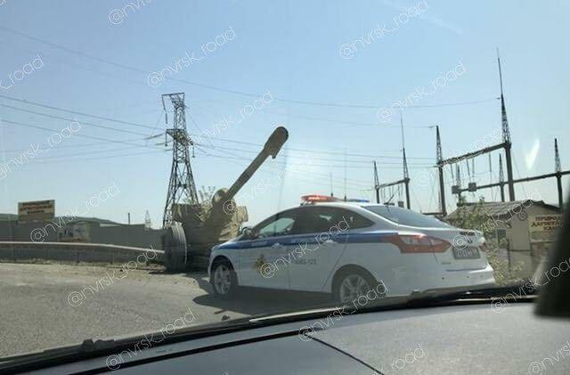 Под Новороссийском военные потеряли пушку (2 фото)