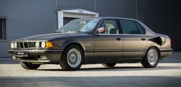 BMW 7 Series V16 1988 – cупер «семерка» (11 фото)